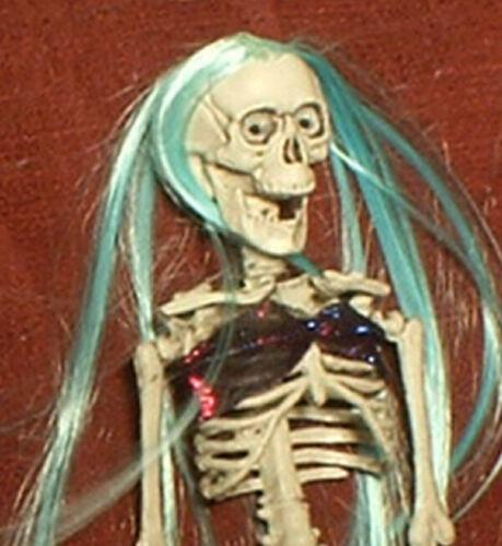 "HAUNTED Creepy Mermaid Skeleton doll ""EYES FOLLOW YOU"" Halloween prop"