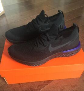 Nike Epic React Flyknit Triple Black - size 9.5 - Brand New