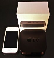 Apple tv 3 iphone 4s combo with boxes all still new