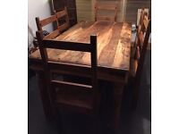 6 chairs & dining table