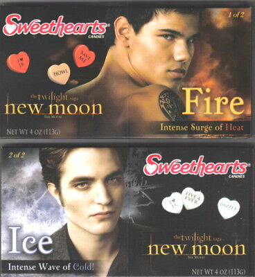 The Twilight Saga New Moon Sweethearts Fire & Ice Candy Set of Two NEW SEALED