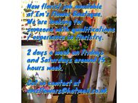JOB VACANCY FOR SOMEONE WITH EXPERIENCE/ QUALIFICATIONS IN FLORISTRY