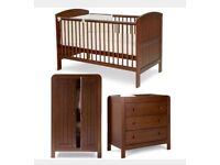 Mamas and Papas Hayworth Nusery set - cotbed, chest of drawers, wardrobe