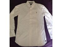 Genuine men's Ralph Lauren white shirt small