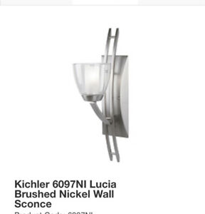 Kichler Lucia Brushed nickel wall sconce