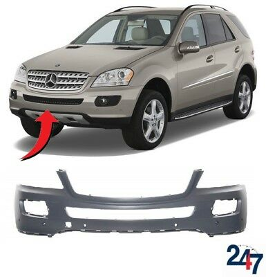 MERCEDES M-CLASS W166 ML 2012-2015 FRONT BUMPER WITH PDC /& WASHER HOLE PRIMED