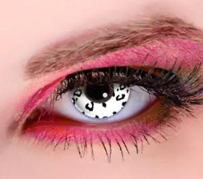Crazy Contact Lens Lentilles Kontaktlinsen Fun Halloween White - Gothic Kontaktlinsen