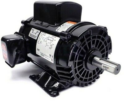 5hp Air Compressor Electric Motor 1 Phase 1725 Rpm 184t Same As L1410t