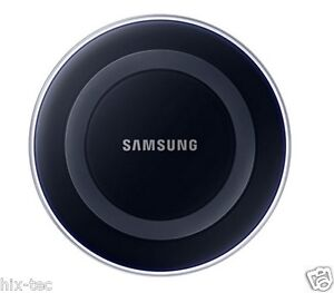 samsung galaxy s6 s7 s6 7s edge qi wireless charger charging pad plate black ebay. Black Bedroom Furniture Sets. Home Design Ideas