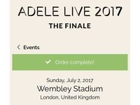 Adele tickets golden circle 2nd July