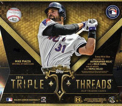2016 Topps Triple Threads Baseball SEALED HOBBY BOX (4 Hits)