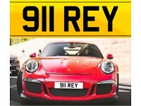 **** 911 King **** ( 911 REY ) Porsche Cherished private personalised registration number plate