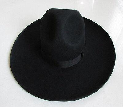 Hot Israel Jewish Hat Wool Hasidic Jews Wide Brim Fedora Cap Black](Cheap Black Fedora Hats)