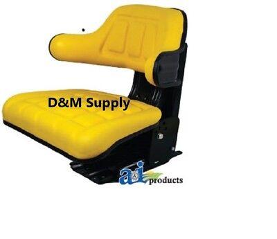 Universal Tractor Seat For John Deere Full Suspension Slide Tracks Mounting Base
