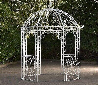 halbpavillon rosie mit sitzbank gartenlaube eisen. Black Bedroom Furniture Sets. Home Design Ideas