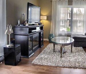 Meuble télé et foyer électrique intégré