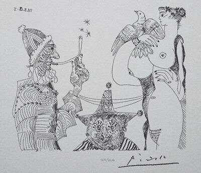 PICASSO Pablo : Reverie opium and big chest - LITHOGRAPHY signed #1200ex