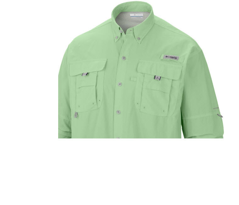 XS-S-M-L-XL-2XL NEW COLUMBIA Men's PFG BAHAMA II Long Sleeve Fishing Shirts