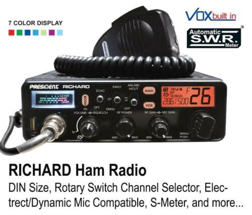 President Richard 10m 50W FM/AM Radio Transceiver - Black BRAND NEW