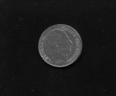 monnaie Belgique Leopold III 5 F 1941