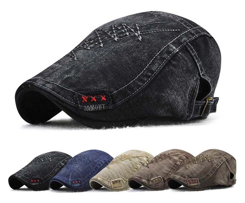 JAMONT Schiebermütze xXx Flatcap Barett Baskenmütze Basecap Vintage Beret Kappe