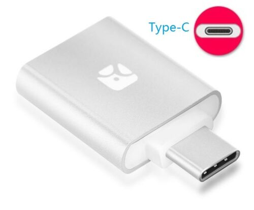 Meenova Dash Micro Type-C MicroSD Card Reader with Carrying Case, Silver