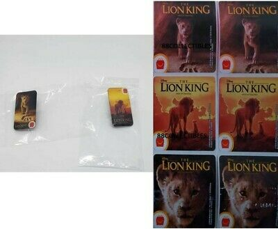 Mcdonalds 2019 The Lion King Crew Pins Set Of 2 Sealed + 6 STICKERS - Free Ship