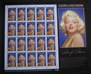 Marilyn Monroe stamps issed 1995 US Postal Serice
