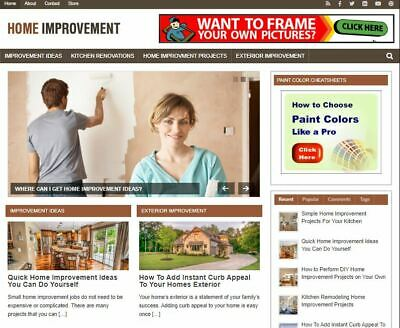 Home Improvement Wp - Established Profitable Turnkey Wordpress Website For Sale