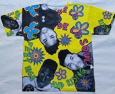 De La Soul 3 feet high and rising dry fit T Shirt   brooklyn nyc hip hop (Brooklyn Fitted T-shirt)