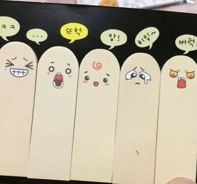 Cute Post It Face Sticky Notes Finger Kawaii Memo School Supplies