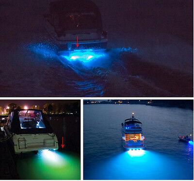 12V 20W LED Green Underwater Submersible Night Fishing Squid Light Ice S6S4 F0X1