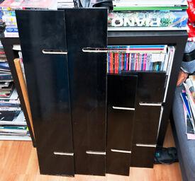 Black Argos Malibu Shelf Kit - Brand NEW
