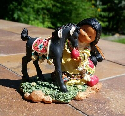 Friends Of The Feather Native American Horse Companion to Count On Figurine