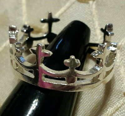 Crown Style Adjustable Ring Silver Tone Game of Thrones
