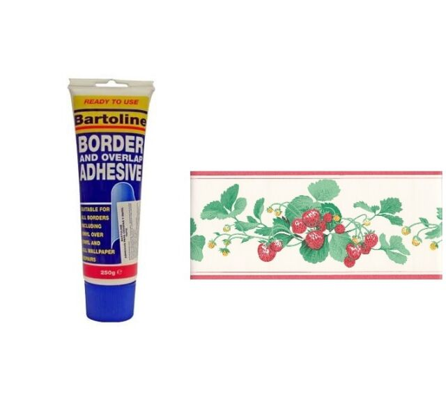 BARTOLINE BORDER AND OVERLAP GLUE ADHESIVE READY MIXED PASTE PAPER WALLPAPER