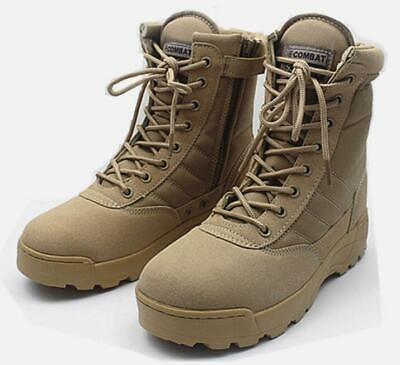 - Outdoor Mens Military Desert Combat Hiking Travel Breathable side Zip ankle boot