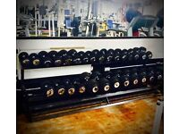Set Of Dumbbells & Wrack