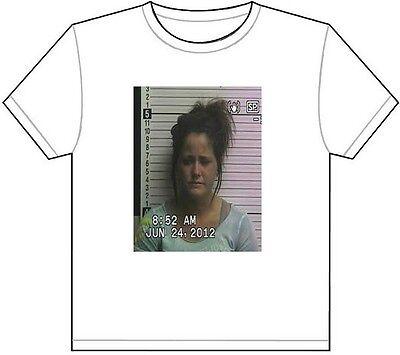 Jenelle Evans Mug Shot T Shirt Tee Picture Photo Mugshot Teen Pregnant Mom 580