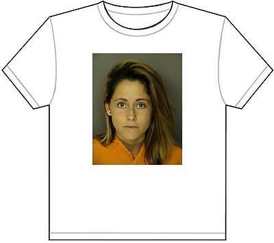 Jenelle Evans Mug Shot T Shirt Tee Picture Photo Mugshot Teen Pregnant Mom 387