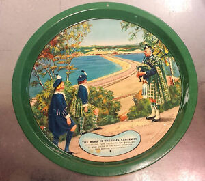 Rare 1955 Canso Causeway lithographed tin serving tray