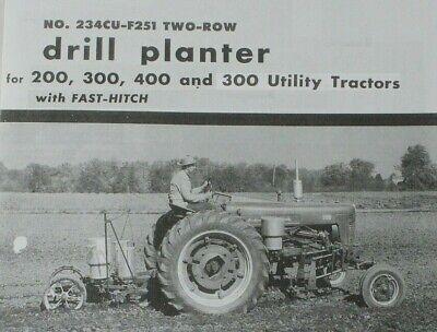 Ih Mccormick 234cu-f251 Fast Hitch 2 Row Planter Brochure Farmall 200 300 400
