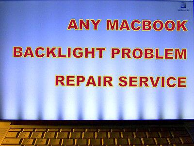 Apple MacBook (Pro Air Unibody) BAD LCD BACKLIGHT PROFESSIONAL REPAIR SERVICE