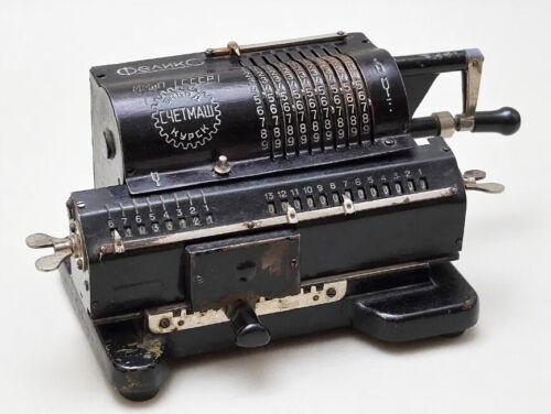 Arithmometer, Rare Soviet USSR Felix Mechanical Calculator, Adding Machine Black