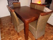 Beautiful Bali Style Dining Room Suite (Can Delivery) Prestons Liverpool Area Preview