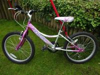 Girls Bike - Falcon Castaway 20 inch Wheels - 6 Speed Shimano Twist Grip Gears