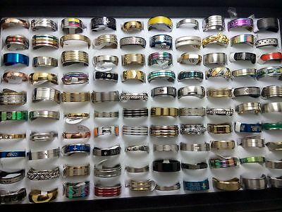 wholesale 500X Band men women's wedding couples Stainless steel Rings Jewelry