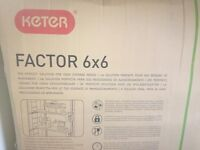 Keter garden shed 6 x 6 as new in box
