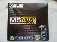 Asus M5A78L-M LX V2 Motherboard + Corsair dual channel ddr3 xms 1600 2 x 2gb
