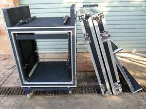 12 UNIT SHOCKPROOF MIXER ROAD FLIGHT CASE WITH CASTERS Raby Campbelltown Area Preview
